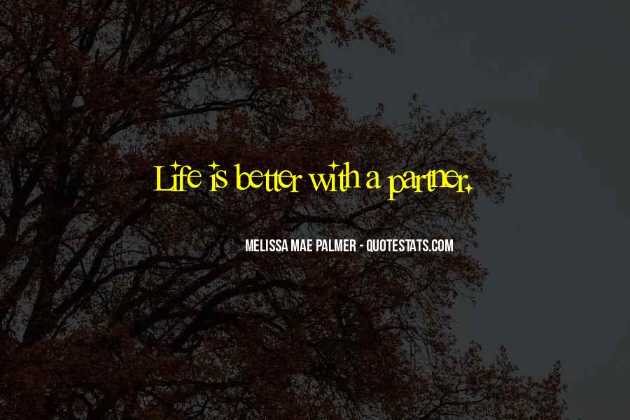 Partner Quotes And Sayings #234262