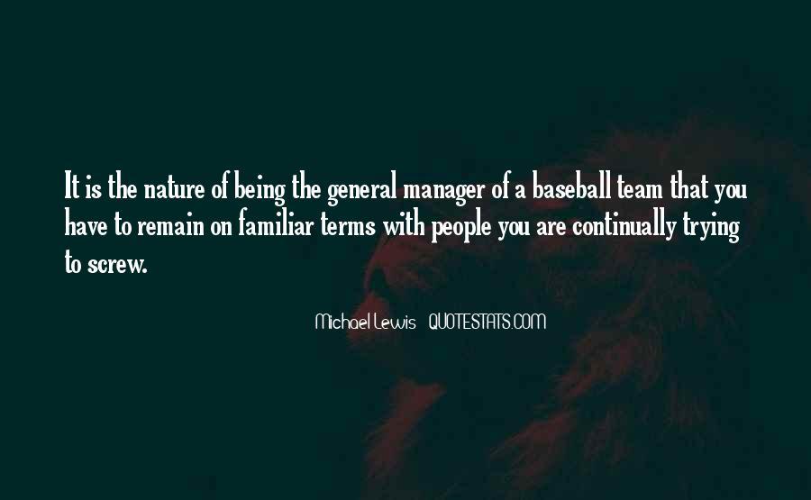 Baseball Manager Sayings #1153574