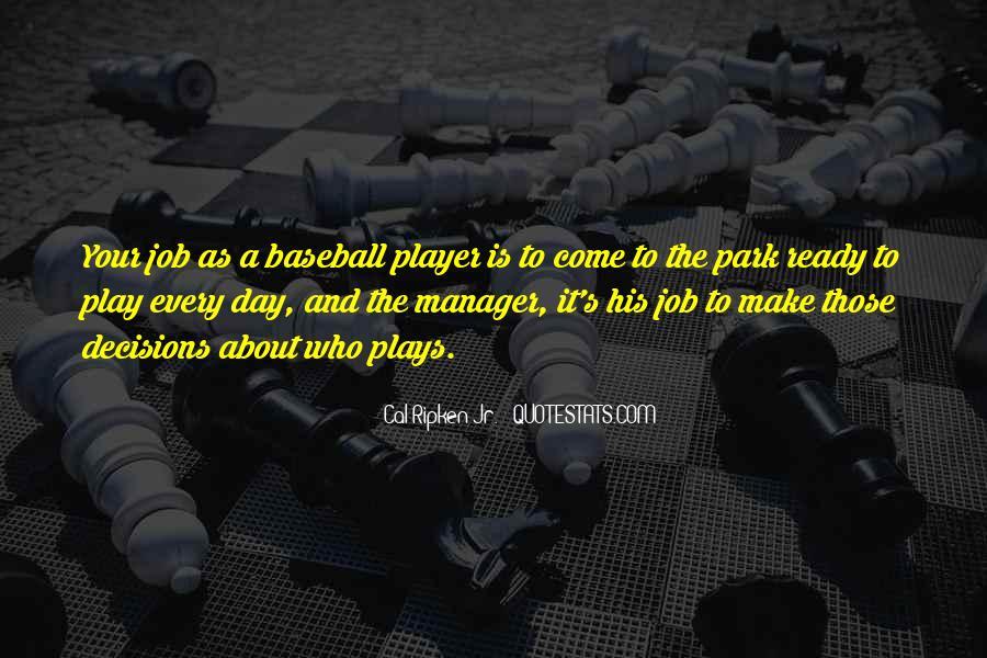 Baseball Manager Sayings #1616763