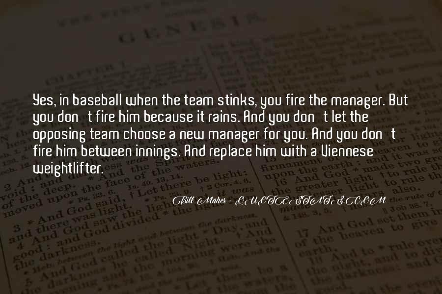 Baseball Manager Sayings #418116
