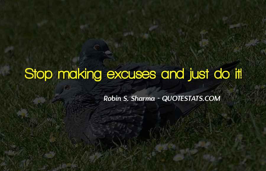 More Excuses Than Sayings #1052