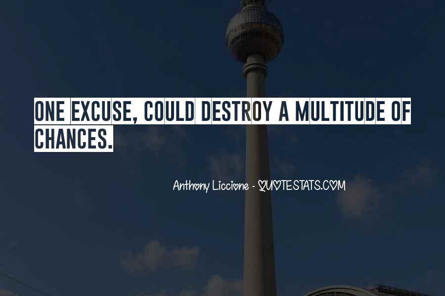 More Excuses Than Sayings #23145