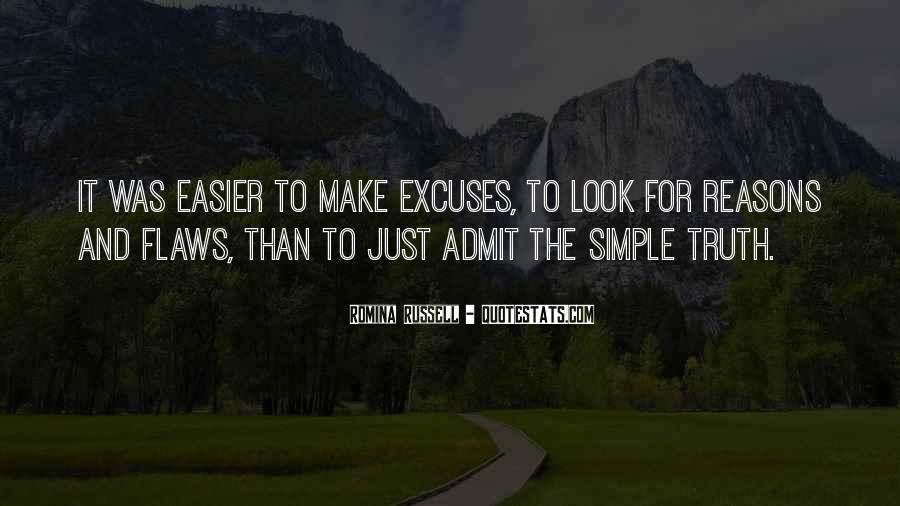 More Excuses Than Sayings #54343