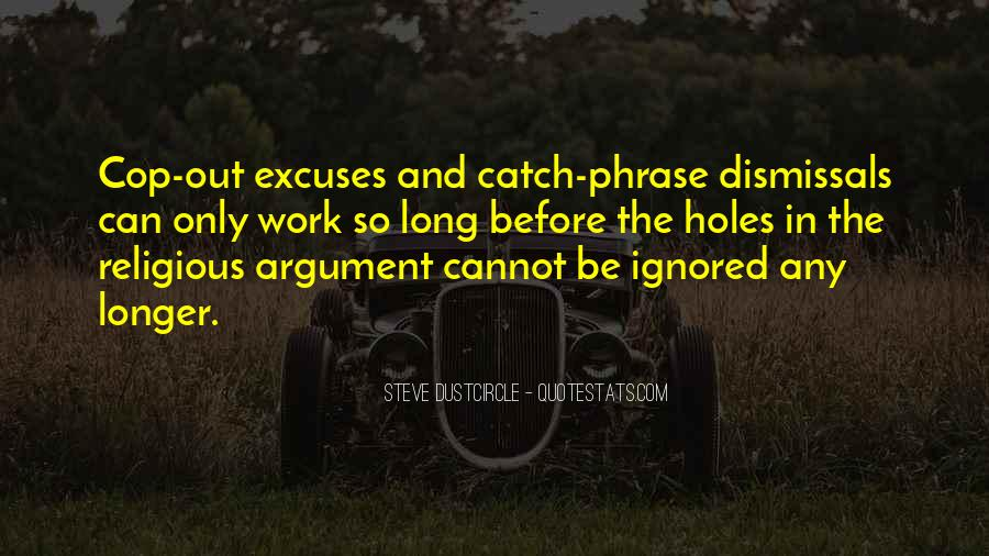 More Excuses Than Sayings #58772