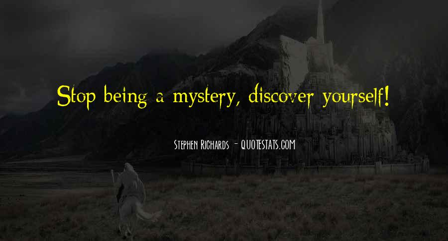 Mystery Quotes And Sayings #1120312