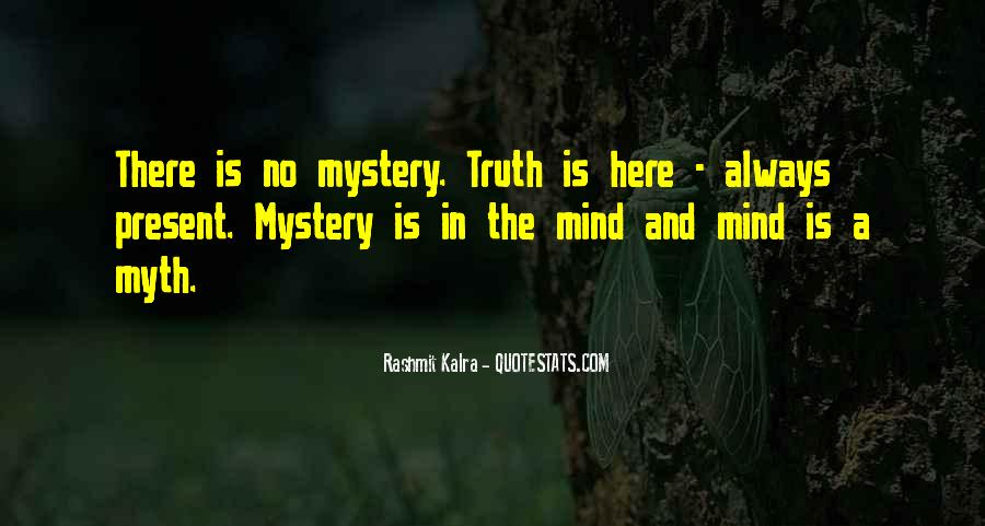 Mystery Quotes And Sayings #116026