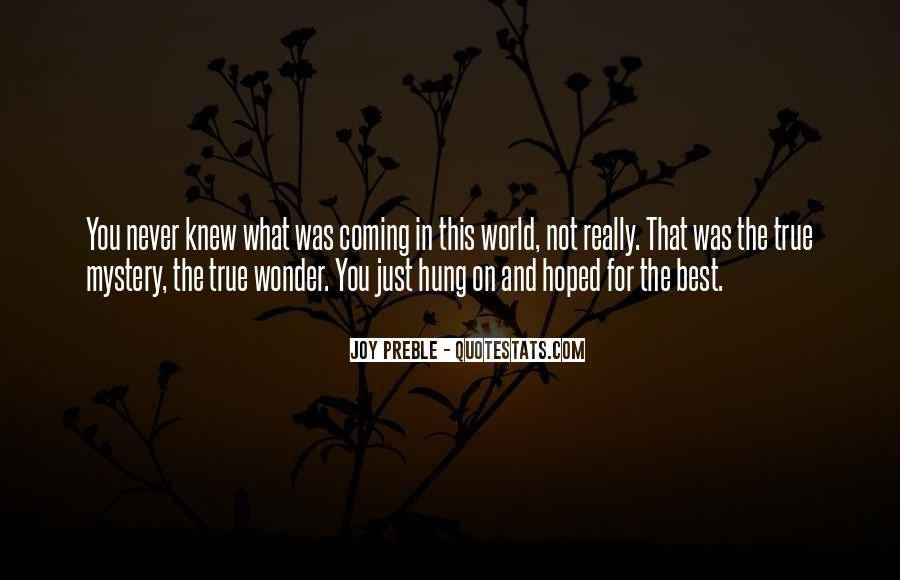 Mystery Quotes And Sayings #150285