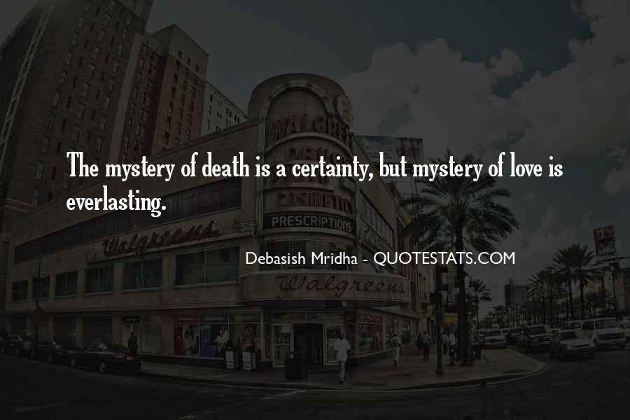 Mystery Quotes And Sayings #212989