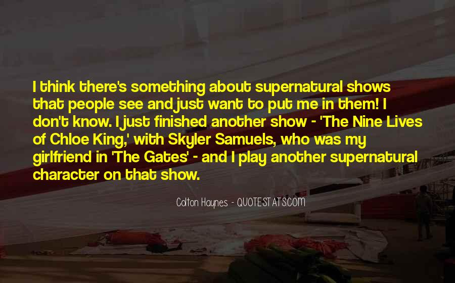 Supernatural Character Sayings #628335