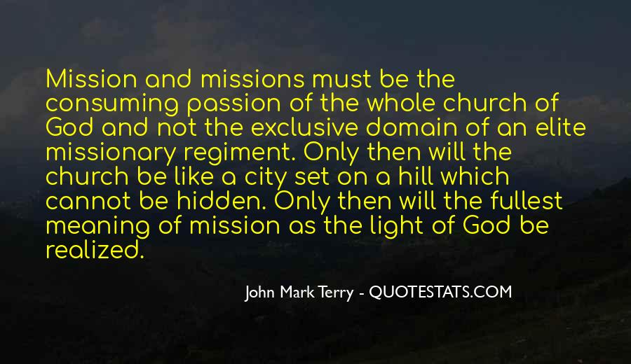 On A Mission Sayings #287528