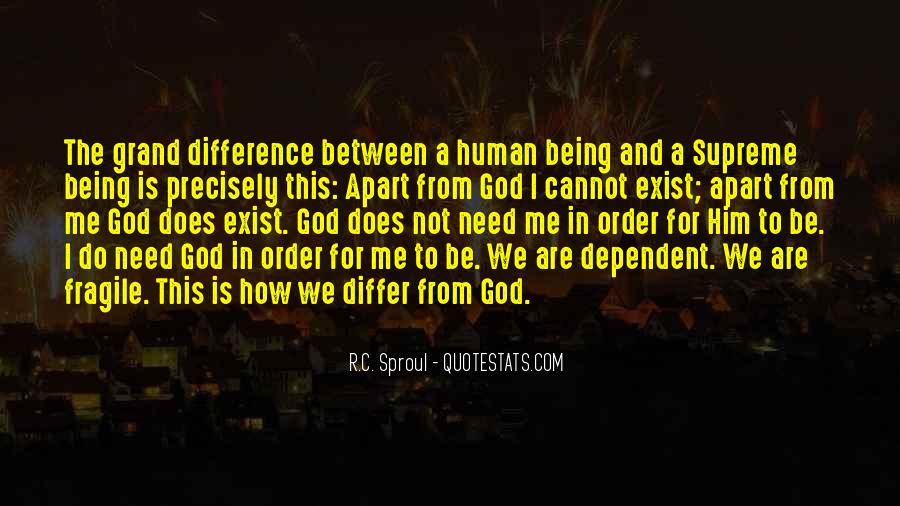 Quotes About Being Dependent On God #779960