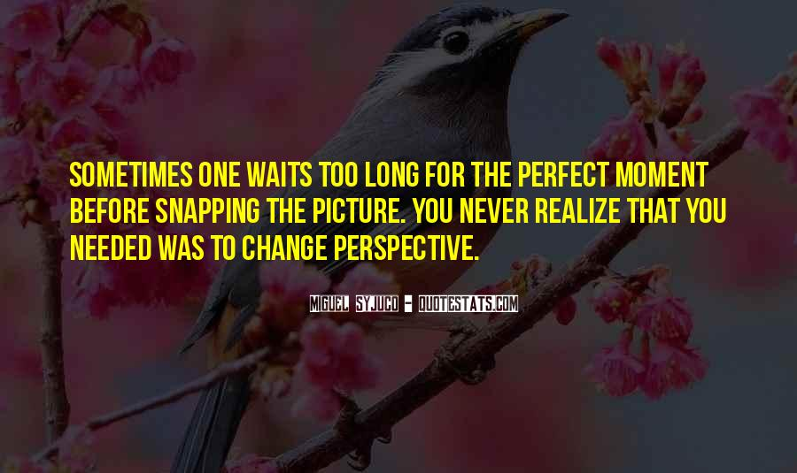 Change Perspective Sayings #73471