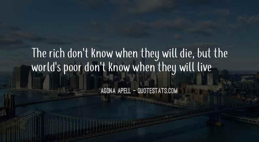 Poverty Quotes And Sayings #1058530