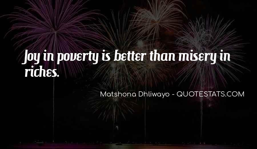 Poverty Quotes And Sayings #1125716