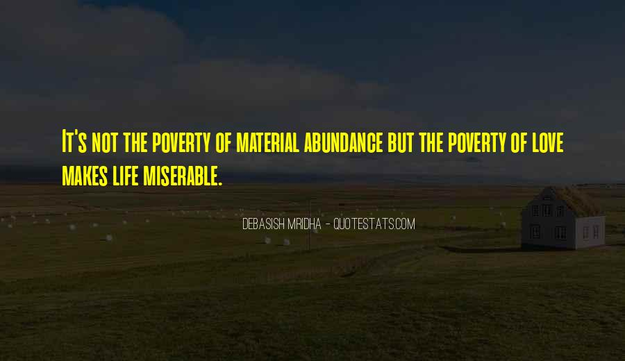 Poverty Quotes And Sayings #1516637