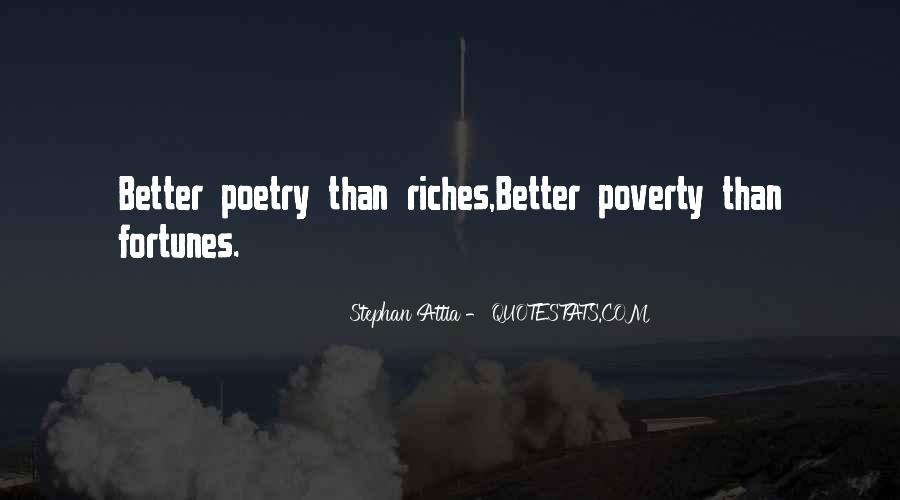 Poverty Quotes And Sayings #1683496