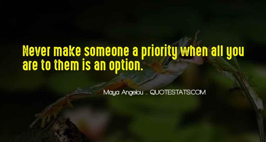 Option Priority Sayings #1273462
