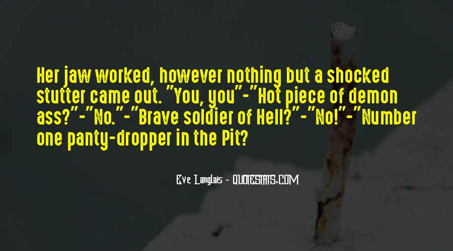 Brave Soldier Sayings #509120
