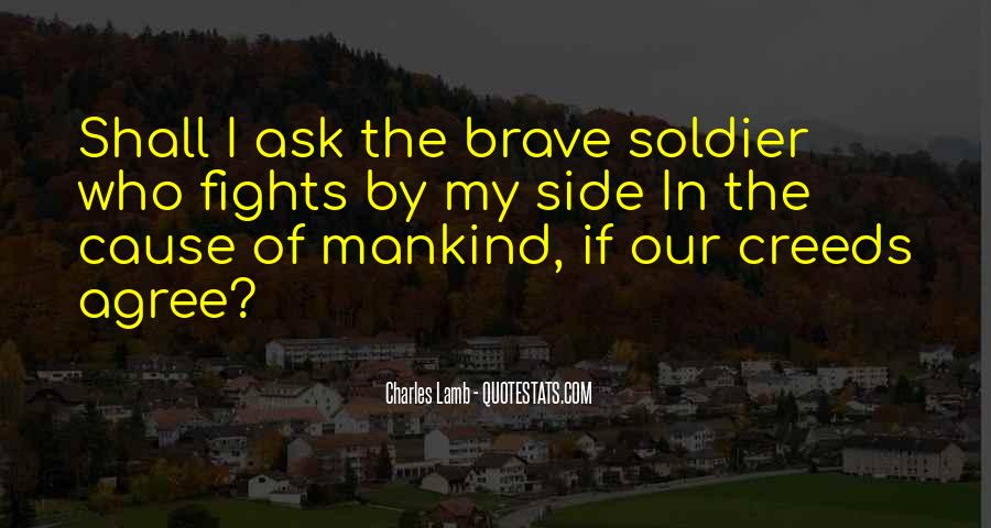 Brave Soldier Sayings #587084