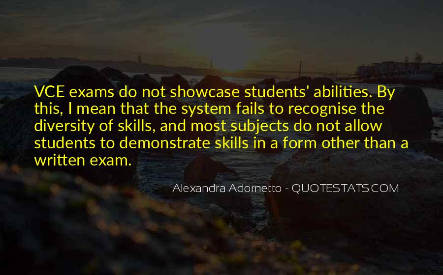 Quotes About Exams #1290707