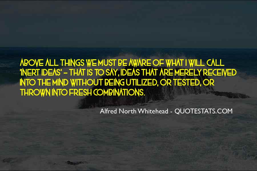 Alfred North Whitehead Sayings #94067