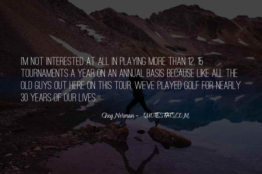 Quotes About Golf Tournaments #7057
