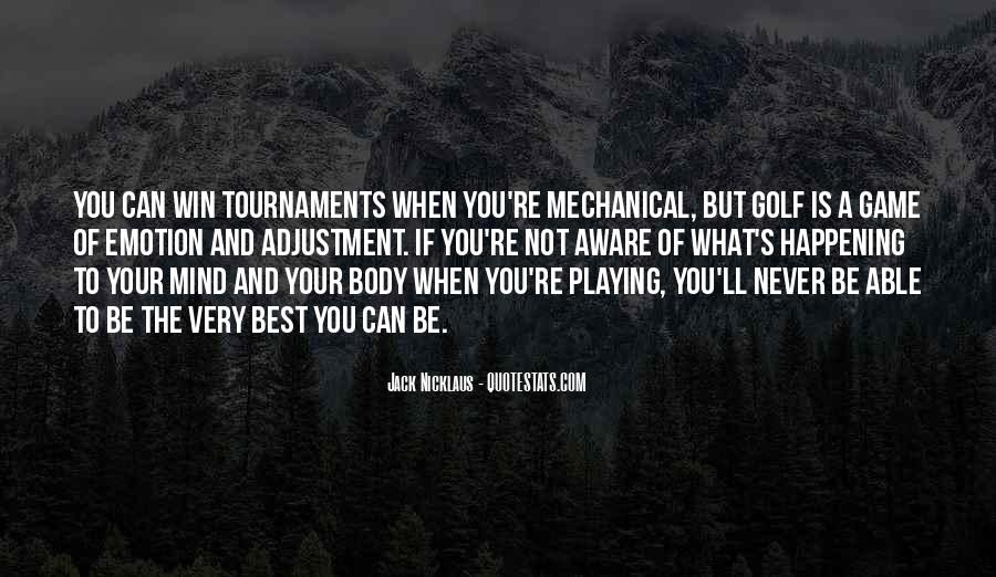 Quotes About Golf Tournaments #95243