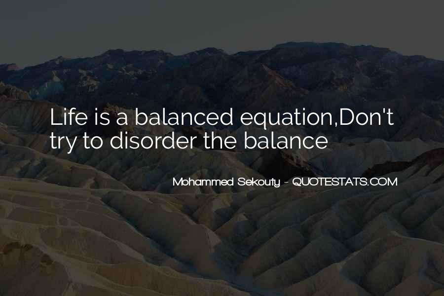 Balance Quotes And Sayings #1124067