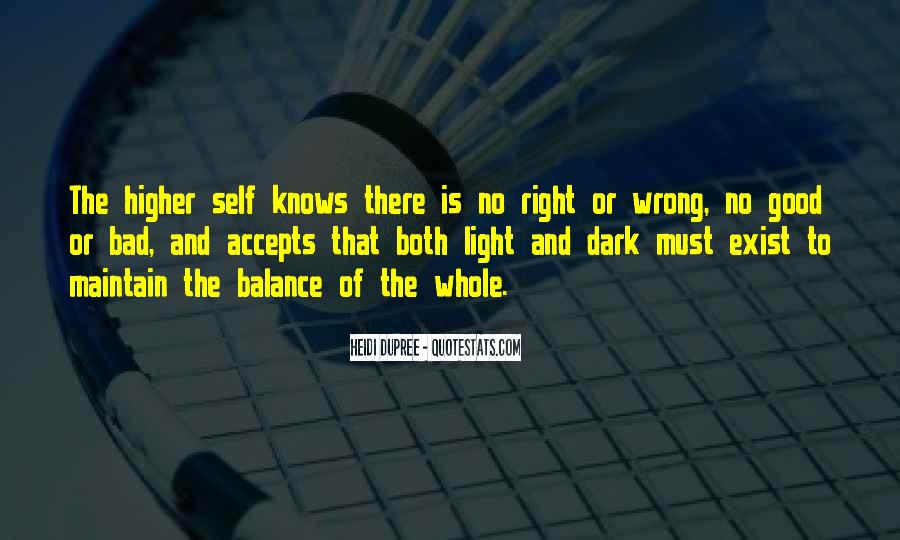 Balance Quotes And Sayings #1153906
