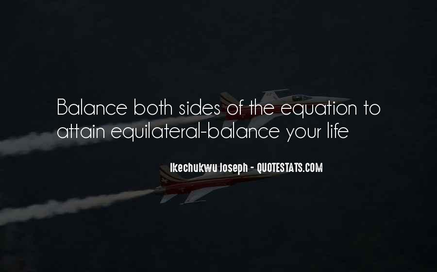 Balance Quotes And Sayings #1685799