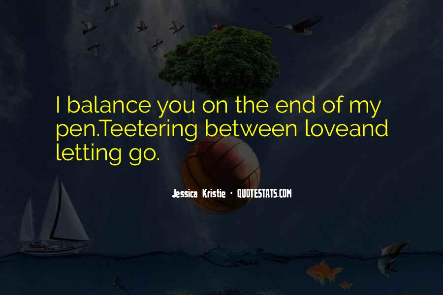 Balance Quotes And Sayings #52230