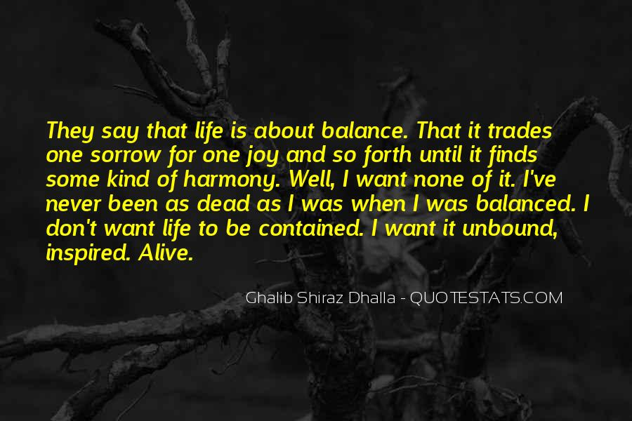 Balance Quotes And Sayings #698812