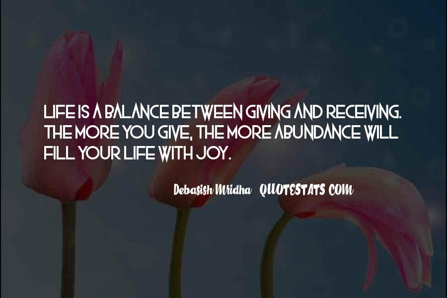Balance Quotes And Sayings #95057