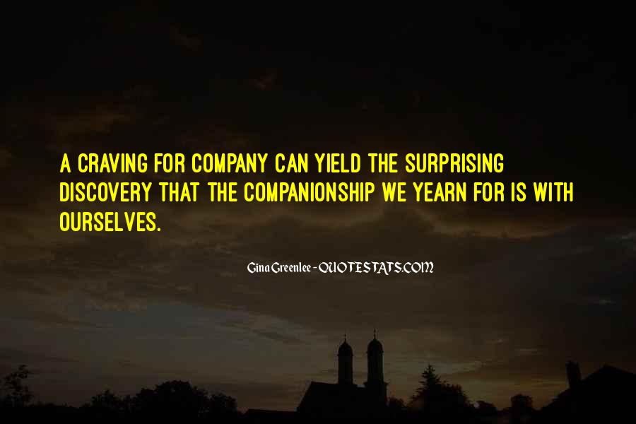 Companionship Quotes And Sayings #127527