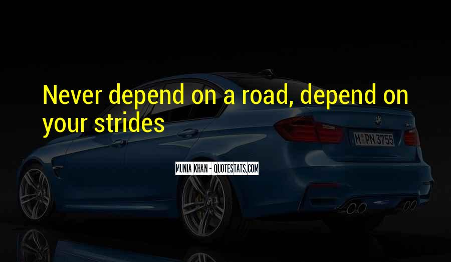 Depend Quotes Sayings #1691419