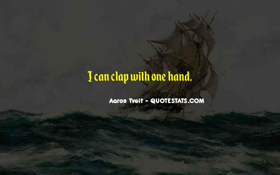 Hand Clap Sayings #1095801