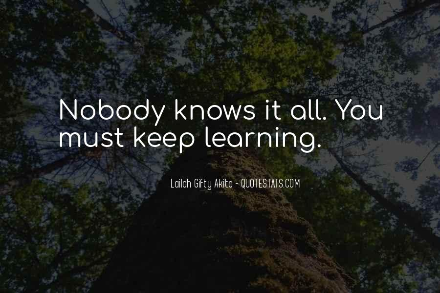 Learning Quotes And Sayings #109206
