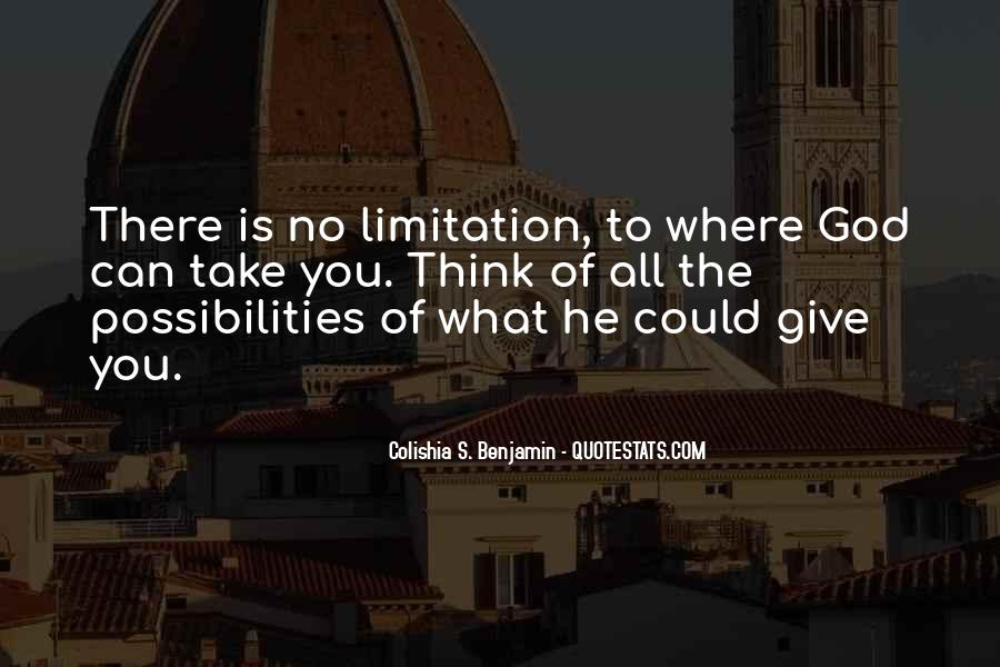 Limitation Quotes And Sayings #931211