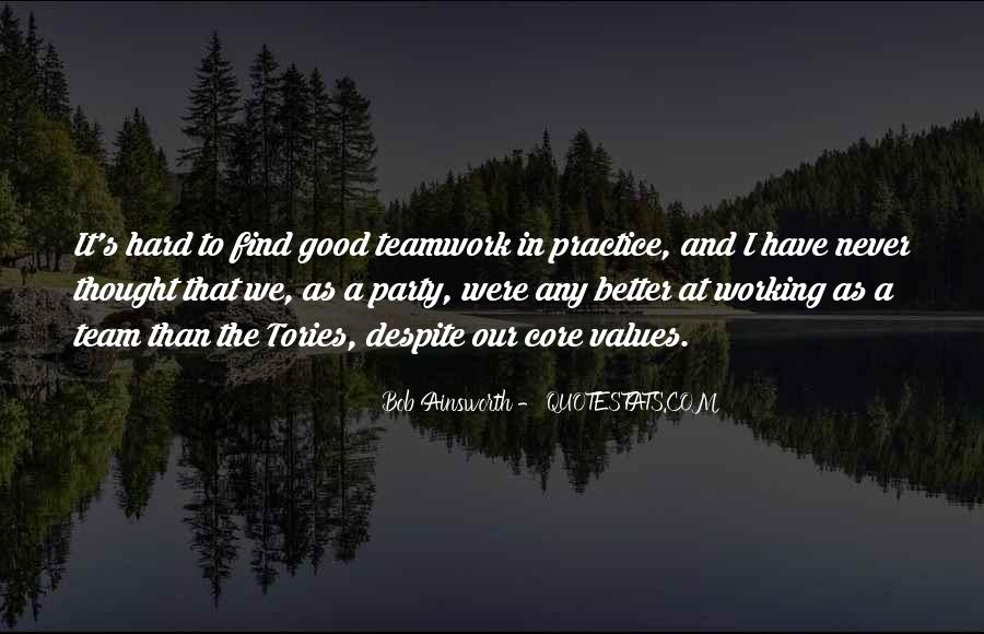 Quotes About Hard Working Team #148481