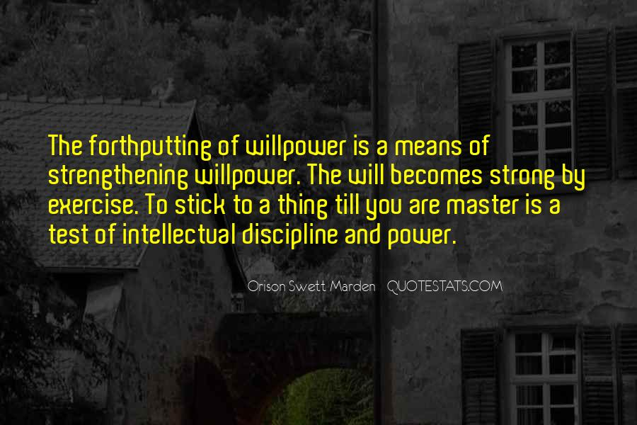 Willpower Of A Sayings #1468824