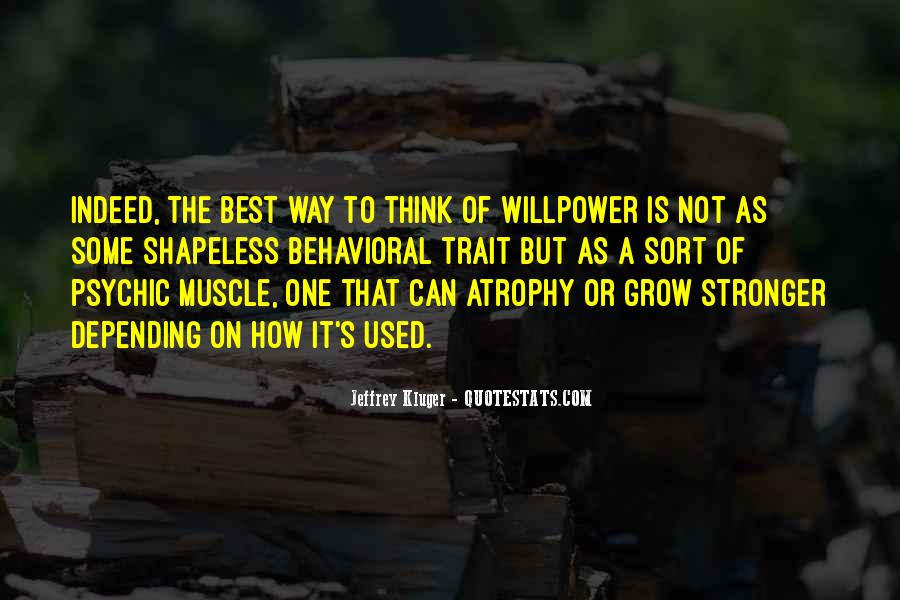 Willpower Of A Sayings #1818282