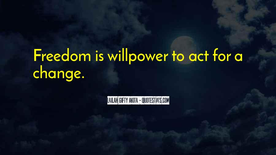 Willpower Of A Sayings #1875276