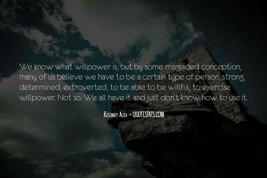 Willpower Of A Sayings #650149