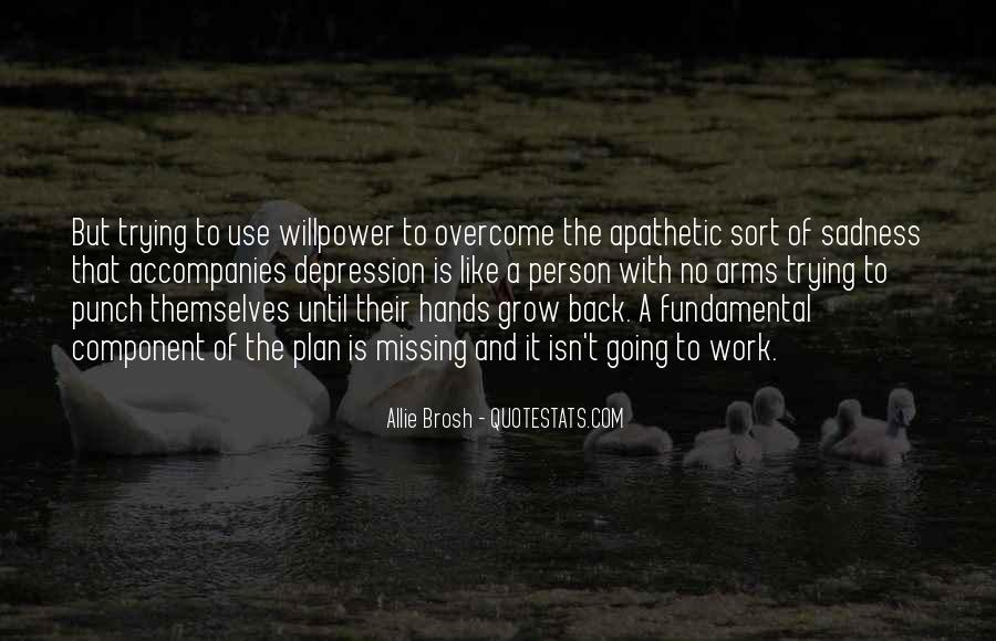 Willpower Of A Sayings #739781