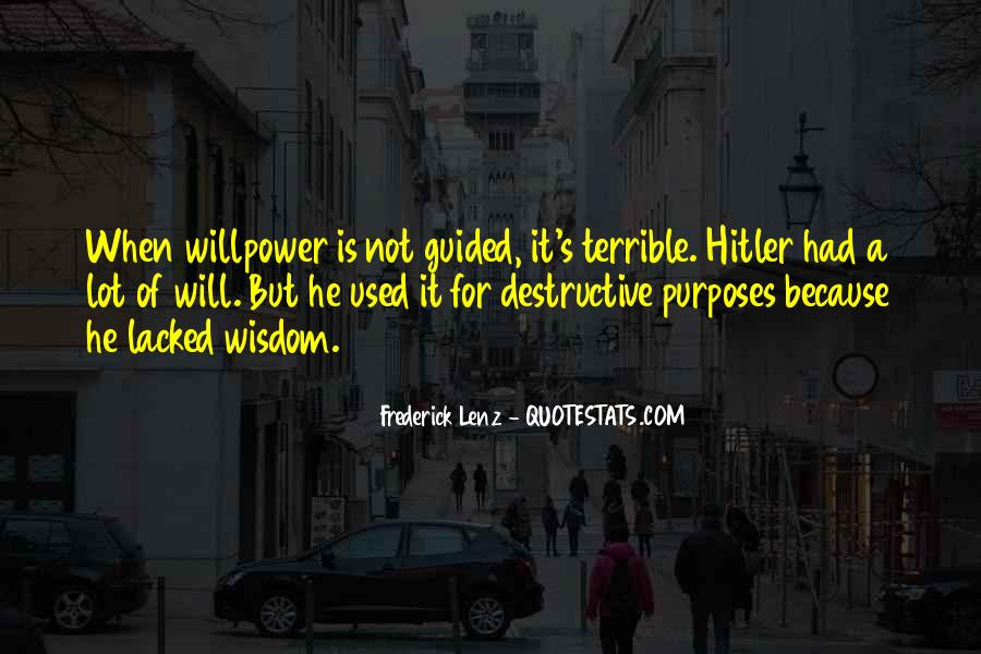Willpower Of A Sayings #761586