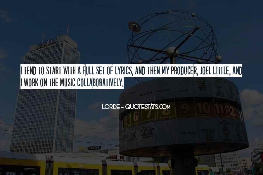 Music Producer Sayings #88610