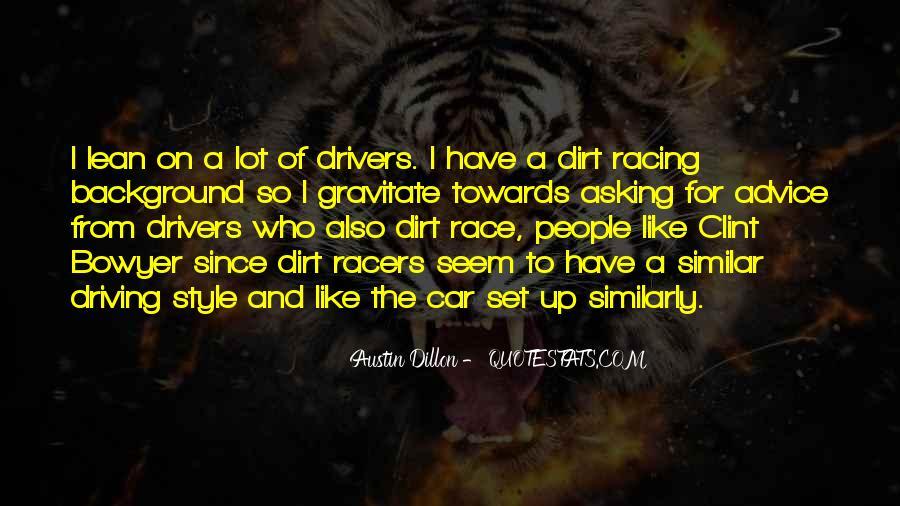 Car Racers Sayings #876389