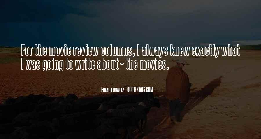 Movie Review Sayings #1361491