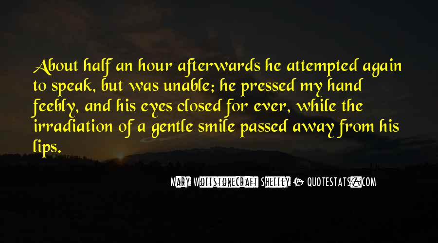 Quotes About Half Smile #123878