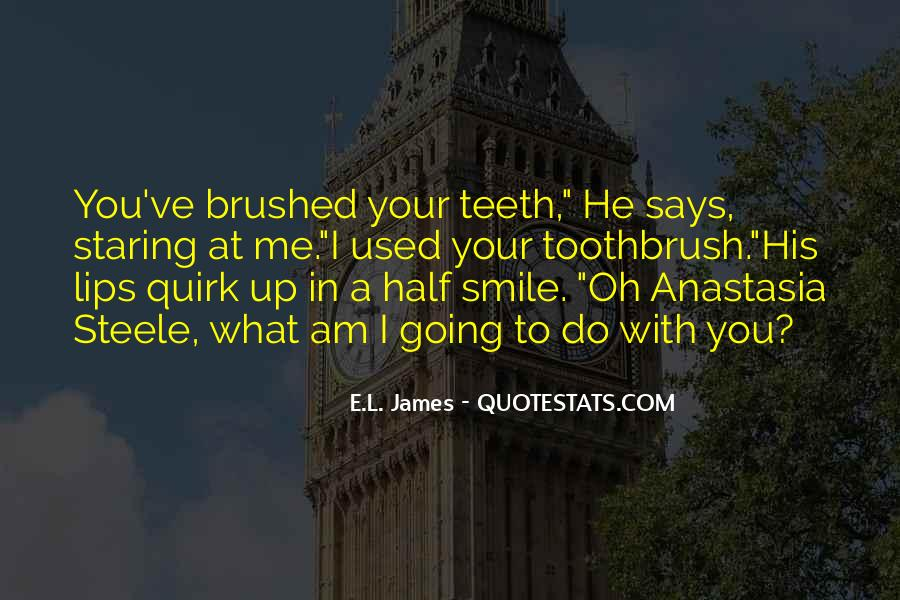 Quotes About Half Smile #15796